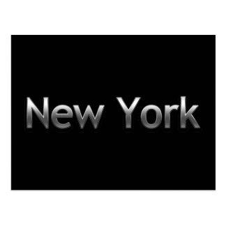 Industrielles New York - auf Schwarzem Postkarte