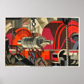 industrielles Plakat der elektrischen Maschinen