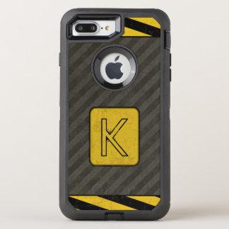 Industrielles Schmutz-Monogramm OtterBox Defender iPhone 8 Plus/7 Plus Hülle