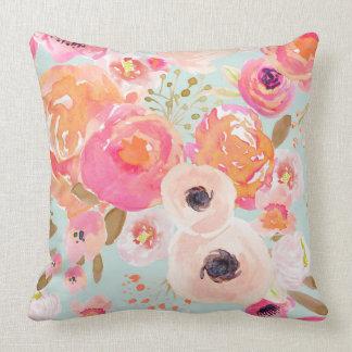 Indy Blüten-Blau errötet Blumenkissen Kissen