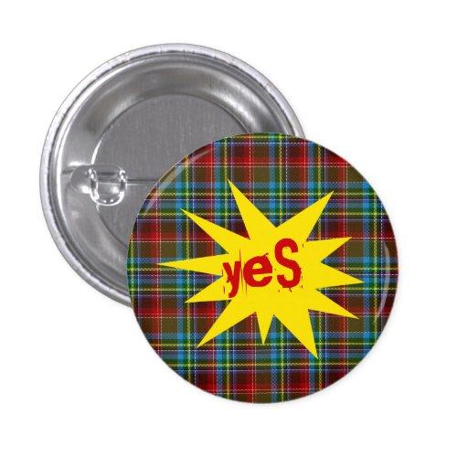 #indyref Tartan-Punk ja Schottland Pinback Button