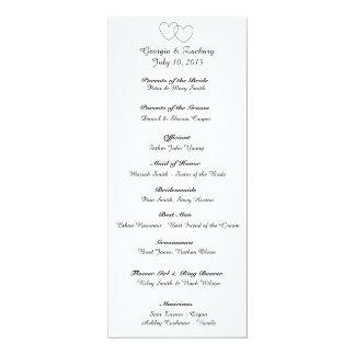 """""""Ineinander greifenherz-"""" Hochzeits-Programm 10,2 X 23,5 Cm Einladungskarte"""