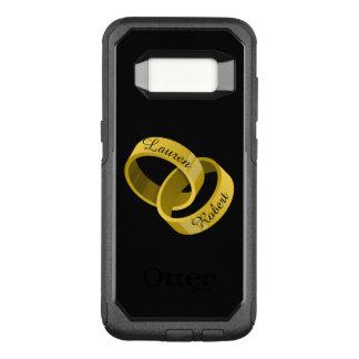 Ineinander greifenhochzeits-Ringe - gravierte OtterBox Commuter Samsung Galaxy S8 Hülle