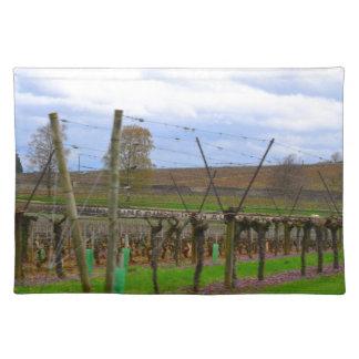 ineyard, Weinreben die französische Landschaft Stofftischset