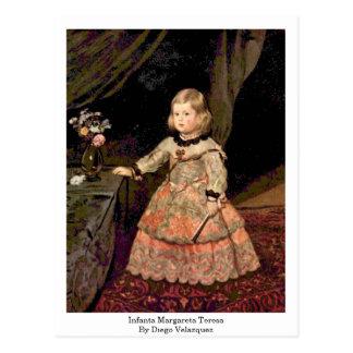 Infanta Margareta Teresa durch Diego Velazquez Postkarte