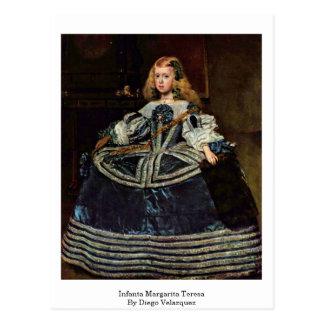 Infanta Margarita Teresa durch Diego Velazquez Postkarte