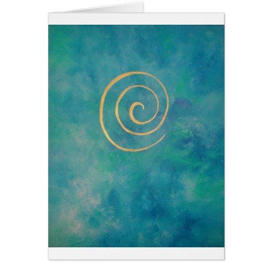 """Infinity - Bright Blue"" Karte"