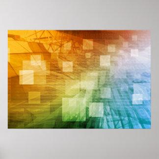 Informatik als abstrakte Hintergrund-Kunst Poster