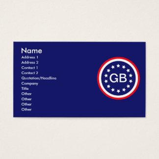 Informations-Karten Visitenkarte