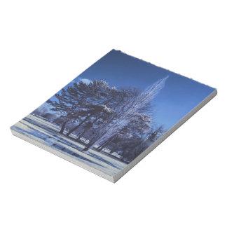Infrarotlandschaft - Bäume in einem Park Notizblock