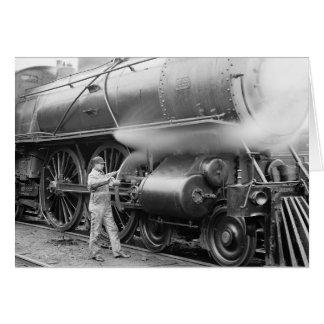 Ingenieur, der Locomotive, 1904 ölt Karte
