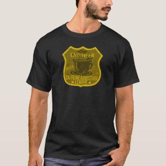 Ingenieur-Koffein-Sucht-Liga T-Shirt