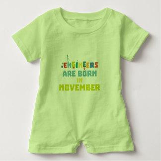 Ingenieure sind geborene im November Za7ra Baby Strampler