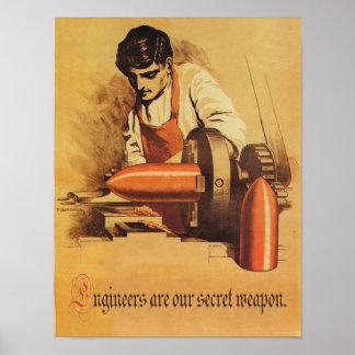 Ingenieure sind unsere geheime Waffe! Poster