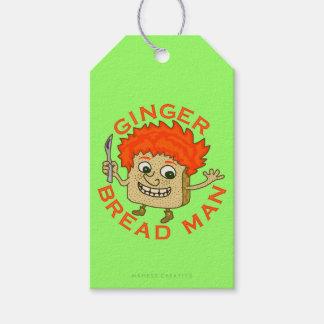 Ingwer-Brot-Mann-lustiges Weihnachtswortspiel Geschenkanhänger