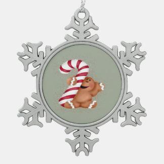 Ingwer-Brot-Zinn-Baum-Verzierung Schneeflocken Zinn-Ornament