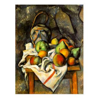 Ingwer-Glas und Frucht durch Cezanne Postkarte