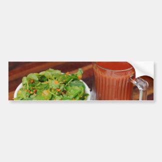 Ingwer-Karotten-Tomate, die Brunnenkresse-Salat Autoaufkleber