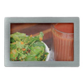 Ingwer-Karotten-Tomate, die Brunnenkresse-Salat Rechteckige Gürtelschnalle