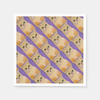 Ingwer-Katzen-Party-Serviette Papierservietten