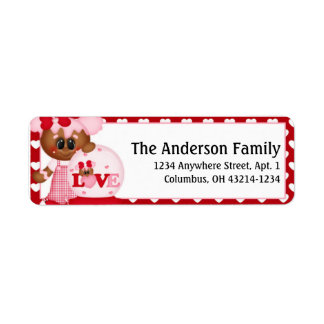Ingwer-Plätzchen-Valentinstag-Adressen-Etiketten