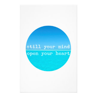Inhalieren Sie ausatmen entspannenMeditational Briefpapier