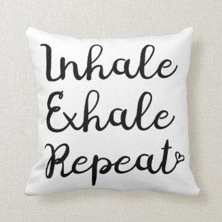 Inhalieren Sie ausatmen Wiederholungs-Kissen Kissen