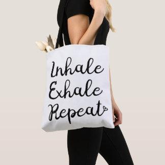 Inhalieren Sie ausatmen Wiederholungs-Tasche Tasche