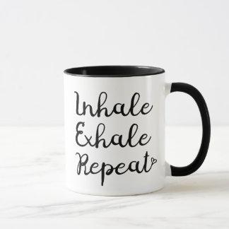 Inhalieren Sie ausatmen Wiederholungs-Tasse Tasse