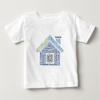 Inhalt-seinkönig Wortwolke Sozialmedium-Text Faceb Baby T-shirt