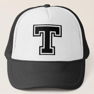 """Initiale des Buchstabe-""""T"""" Truckerkappe"""