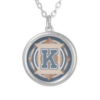 """Initiale des Monogramm-Buchstabe-""""K"""" Halskette Mit Rundem Anhänger"""