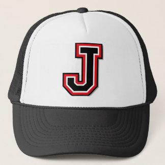 "Initiale des Monogramm-""J"" Truckerkappe"