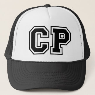 "Initialen des Monogramms ""CP"" Truckerkappe"