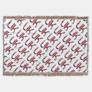 Initialen-Gewerkschafts-Jack-Flaggen-Farben Decke