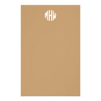 Initialen Kamel-TAN-Weiß-3 in einem Büropapiere
