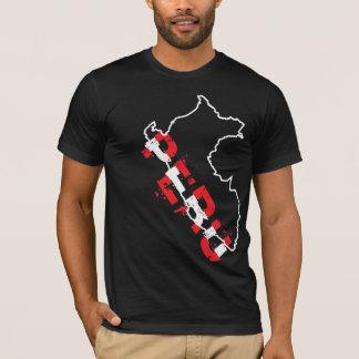 InKa1821 Aufkleber - Peru-Karten-Shirt T-Shirt