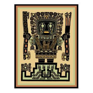 Inka-Kriegers-Gott Postkarte