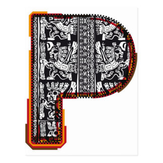 Inka ` s Schriftart, Buchstabe P Postkarte