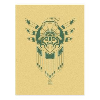 Inka-Vogel-Tätowierungspostkarte Postkarte