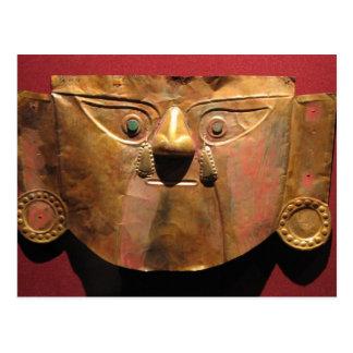 Inkagoldmaske, Lima, Peru Postkarte