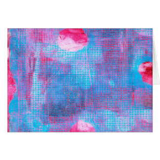 Inkarnatklee-abstrakte Kunst Fuschia rosa Blau Karte