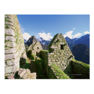 Inkaruinen bei Machu Picchu in den Anden Postkarte