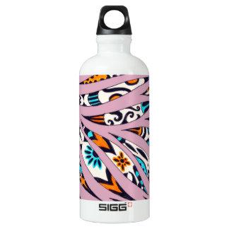 Inky flippiges Muster-Gekritzel-Rosa Aluminiumwasserflasche