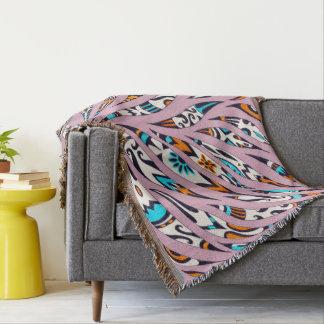Inky flippiges Muster-Gekritzel-Rosa Decke