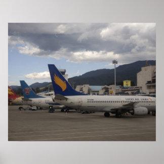 Inländische chinesische Jet-Passagierflugzeuge aus Plakatdrucke