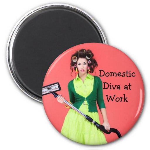 Inländische Diva am Arbeits-Bild-Magneten Magnets