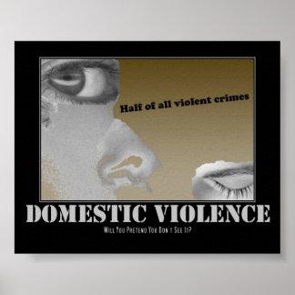 Inländische Gewalt Plakatdruck