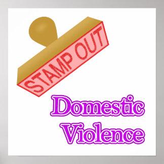 Inländische Gewalt Plakate