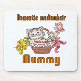 Inländische mediumhair Katzen-Mamma Mousepad
